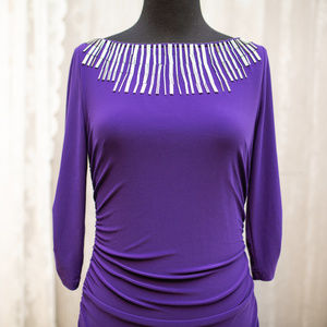Adrianna Papell Purple Rouched fitted Party dress6